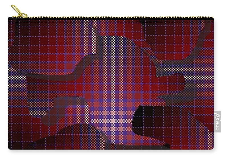Digital Carry-all Pouch featuring the digital art These Pieces Dont Fit by Ron Bissett