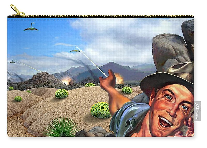 Landscape Carry-all Pouch featuring the digital art They're Here by Snake Jagger