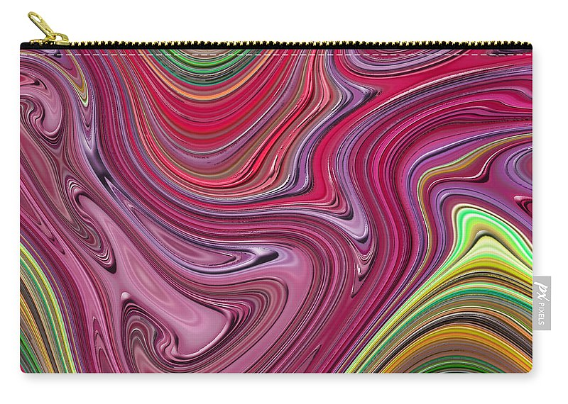 Colorful Carry-all Pouch featuring the digital art Thick Paint Abstract by Melissa A Benson