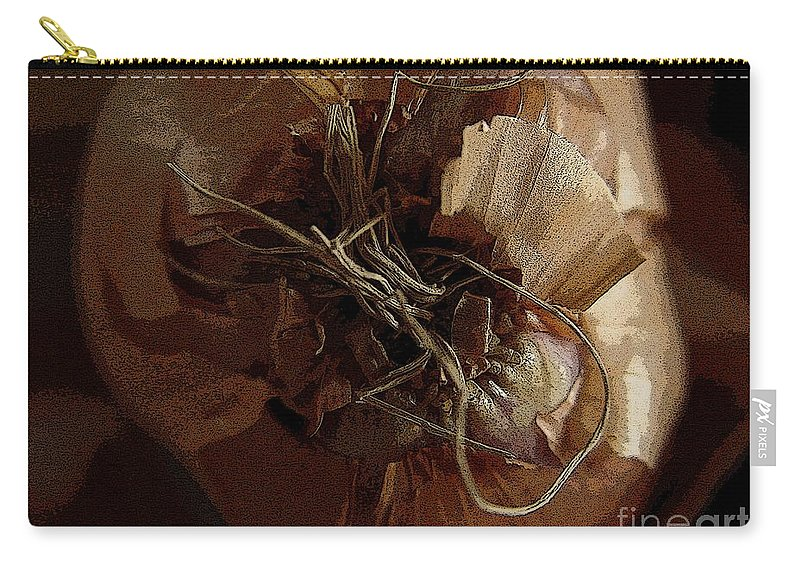 Digital Image Carry-all Pouch featuring the photograph Thin Skin by Ron Bissett