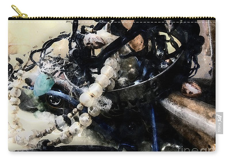 Bracelet Carry-all Pouch featuring the painting Things Forgotten by RC DeWinter