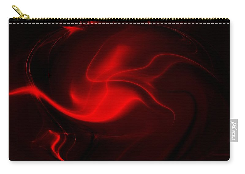 Abstract Digital Painting Carry-all Pouch featuring the digital art Things That Go Bumb In The Night by David Lane