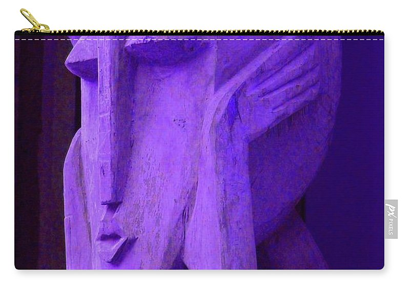 Head Carry-all Pouch featuring the photograph Think About It by Debbi Granruth