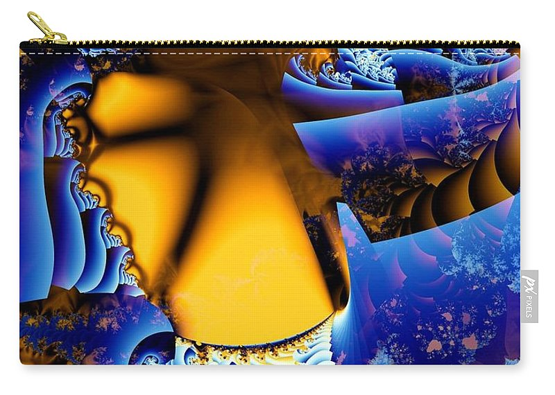 Fractal Carry-all Pouch featuring the digital art Thinly Veiled by Ron Bissett