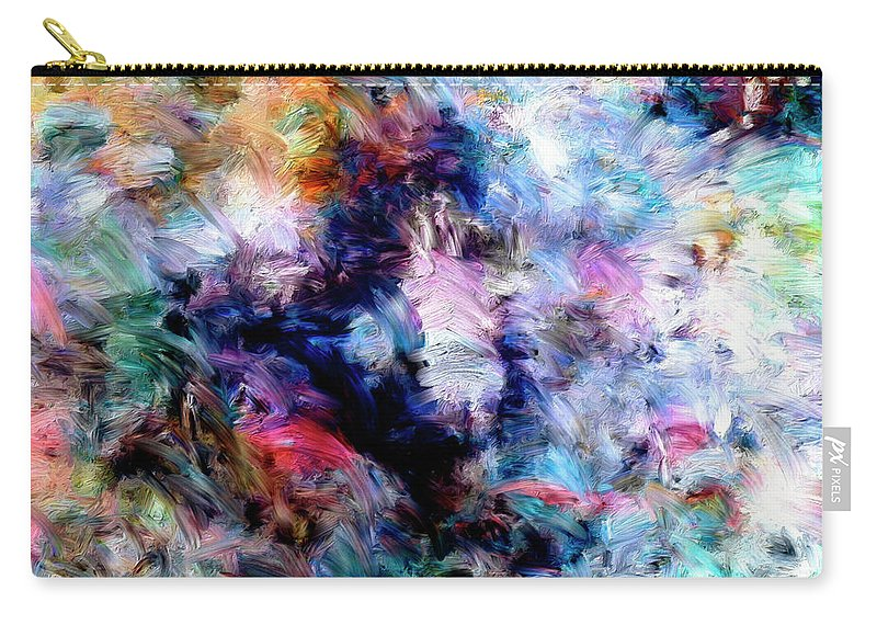 Abstract Carry-all Pouch featuring the painting Third Bardo by Dominic Piperata