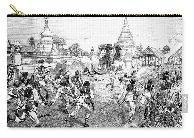 1885 Carry-all Pouch featuring the photograph Third Burmese War, 1885 by Granger