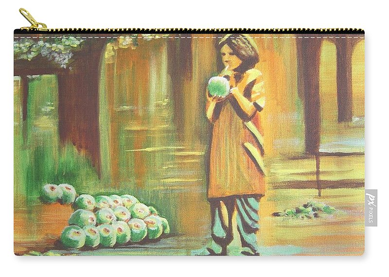 Thirst Carry-all Pouch featuring the painting Thirst Quenched by Usha Shantharam
