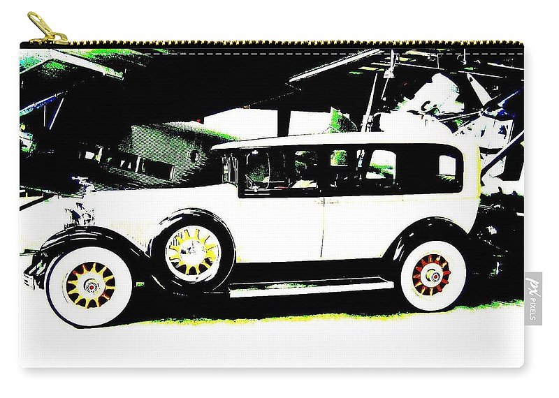 Packard Carry-all Pouch featuring the digital art Thirties Packard Limo by Will Borden
