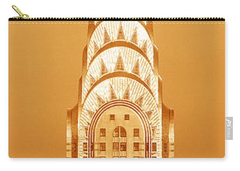 Photography Carry-all Pouch featuring the photograph Chrysler Building At Sunset by Panoramic Images