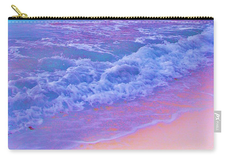 Contemporary Carry-all Pouch featuring the photograph This Is One Hot Beach by Margaret Bobb