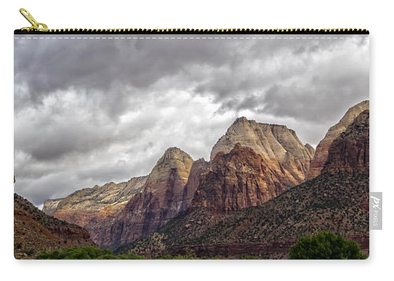 Zion National Park Carry-all Pouch featuring the photograph Zion by Steve L'Italien