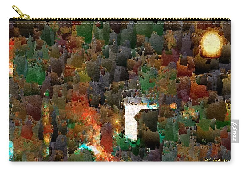 Semi-abstract Carry-all Pouch featuring the painting This Little Light Of Mine by RC DeWinter