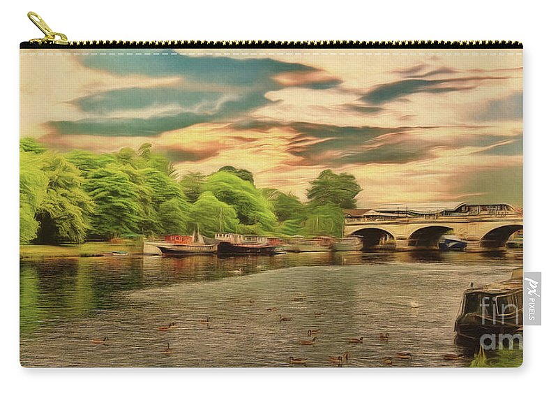 River Thames Carry-all Pouch featuring the photograph This Morning On The River by Leigh Kemp