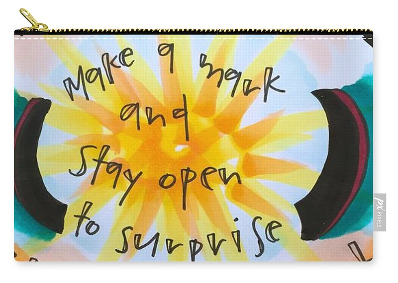 Creativity Carry-all Pouch featuring the painting This Very Moment by Vonda Drees