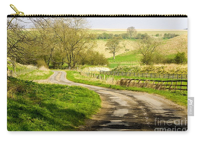 Yorkshire Wolds Carry-all Pouch featuring the photograph Thixendale Road North Yorkshire by Richard Pinder
