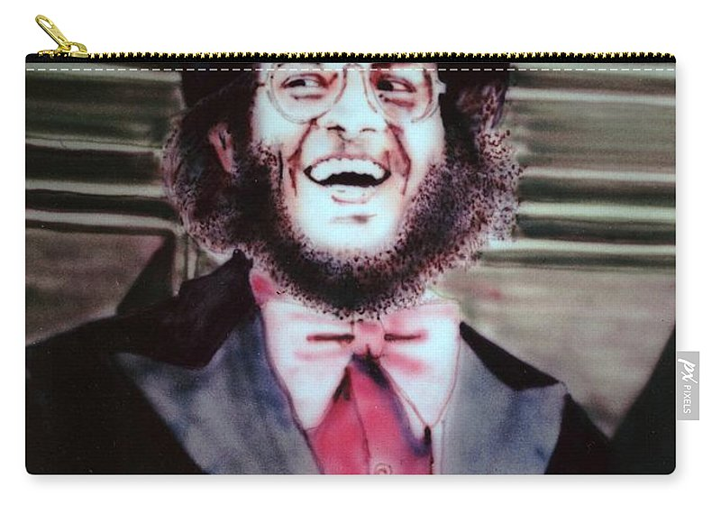 Portrait Carry-all Pouch featuring the painting Thom by Ron Bissett