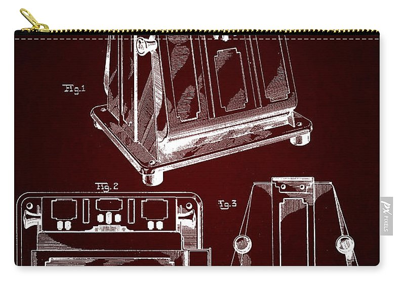 Edison Patents Carry-all Pouch featuring the digital art Thomas A. Edison Jr. Toaster Patent 1933 2 by Nishanth Gopinathan