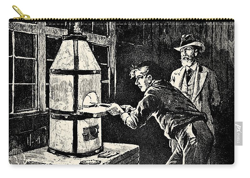 19th Century Carry-all Pouch featuring the photograph Thomas Edison (1847-1931) by Granger