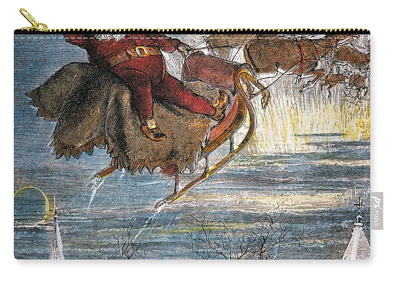 19th Century Carry-all Pouch featuring the photograph Thomas Nast: Santa Claus by Granger