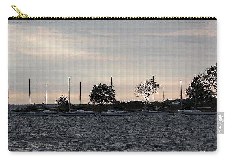 Thomas Carry-all Pouch featuring the photograph Thomas Point - Waiting To Sail by Ronald Reid