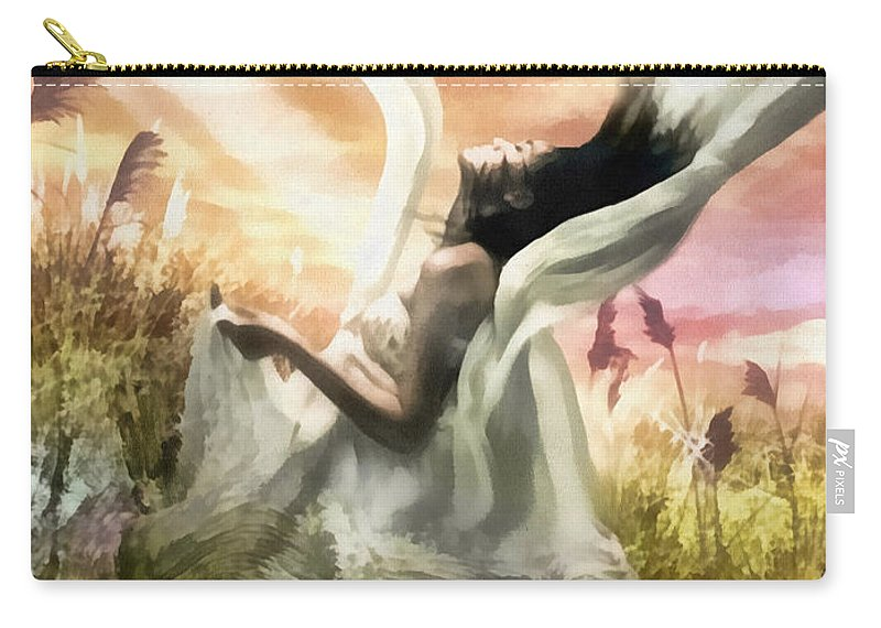 Thorn Carry-all Pouch featuring the digital art Thorn by Mo T