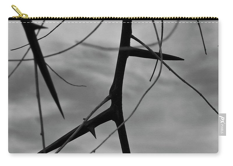Thorns Carry-all Pouch featuring the photograph Thorns In Silouette by Angus Hooper Iii