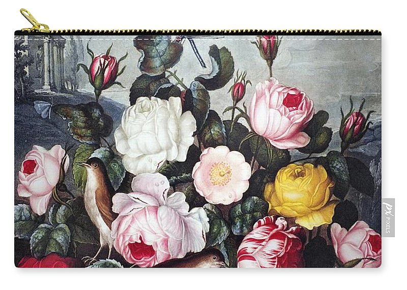 1805 Carry-all Pouch featuring the photograph Thornton: Roses by Granger