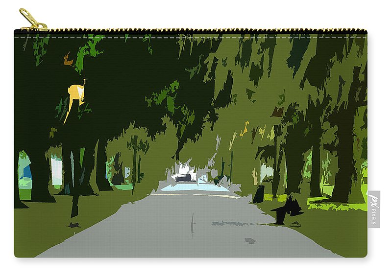 Thoroughfare Carry-all Pouch featuring the painting Thoroughfare by David Lee Thompson