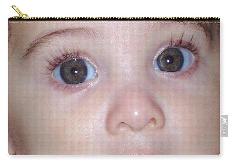 Deborah Crew-johnson Carry-all Pouch featuring the photograph Those Eyes by Deborah Crew-Johnson