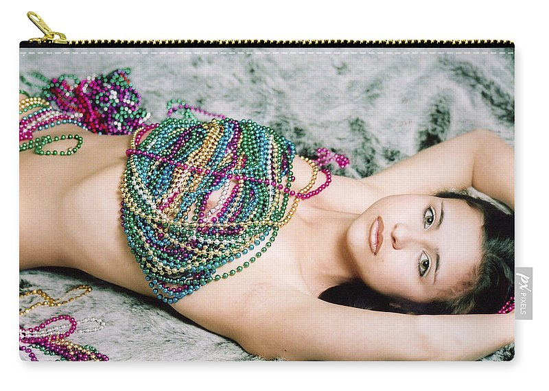 Female Artistic Nude Carry-all Pouch featuring the photograph Those Eyes by Tom Hufford