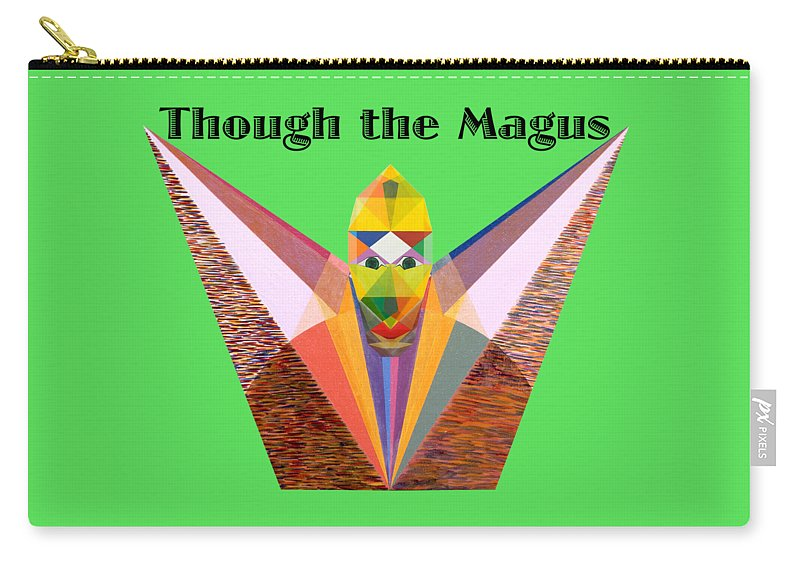 Painting Carry-all Pouch featuring the painting Though the Magus text by Michael Bellon
