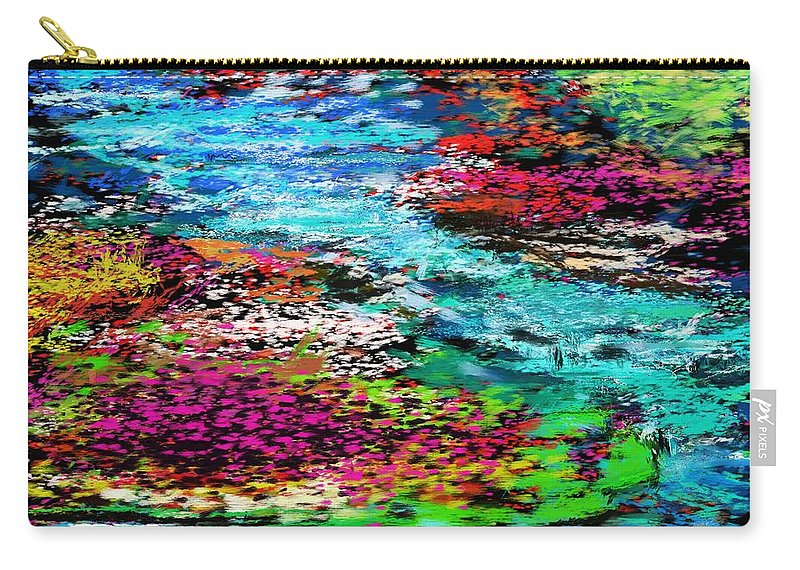 Abstract Carry-all Pouch featuring the digital art Thought Upon A Stream by David Lane