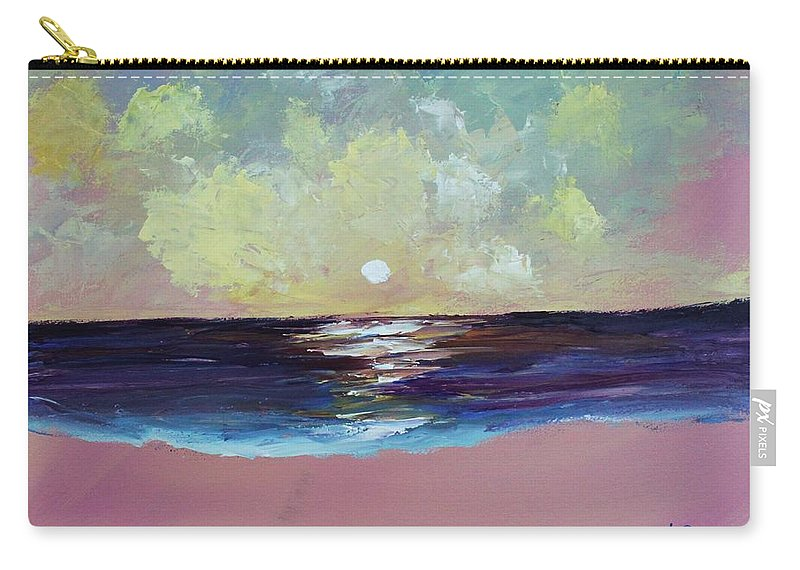 Seascape Carry-all Pouch featuring the painting Thoughtless, Timeless by Angel Reyes