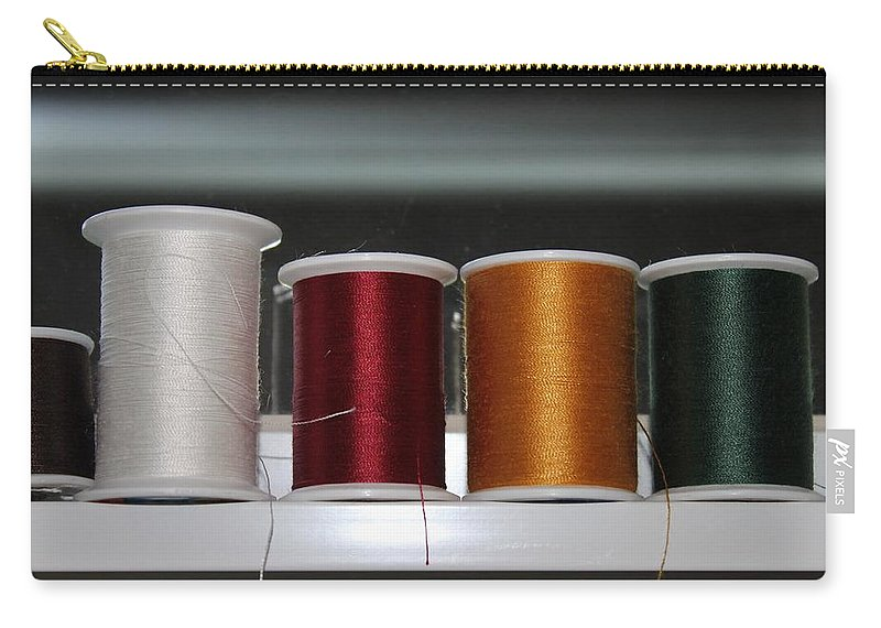 Thread Carry-all Pouch featuring the photograph Thread On A Sill by Lauri Novak