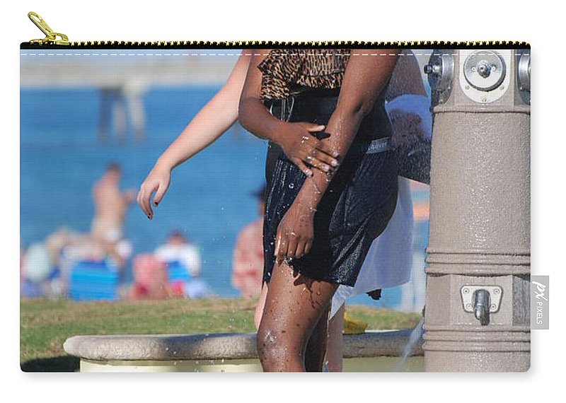 Bathing Suit Carry-all Pouch featuring the photograph Three Arms At The Shower by Rob Hans
