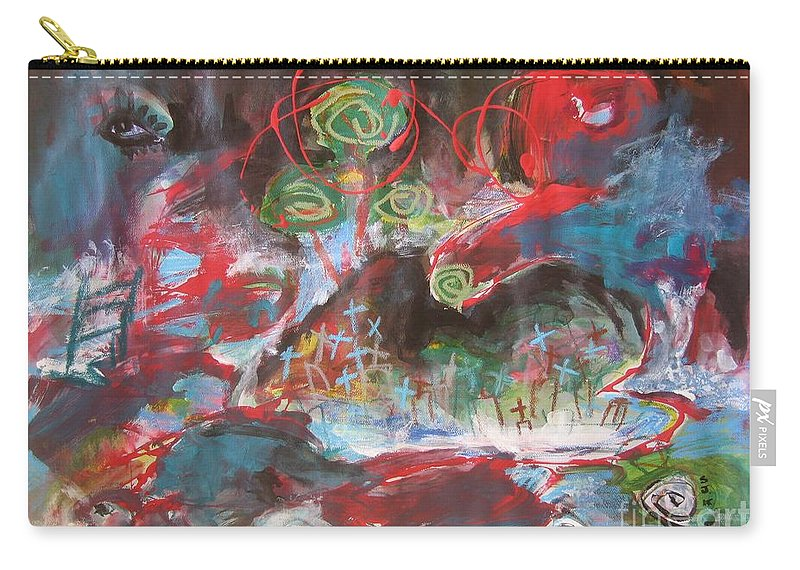 Seascape Carry-all Pouch featuring the painting Three Arms12 by Seon-Jeong Kim