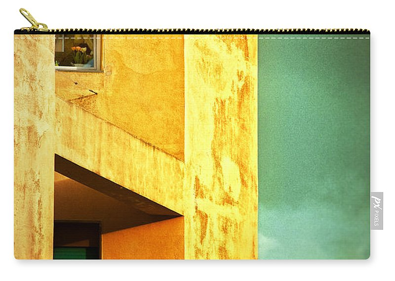 Architecture Carry-all Pouch featuring the photograph Three At The Window by Silvia Ganora