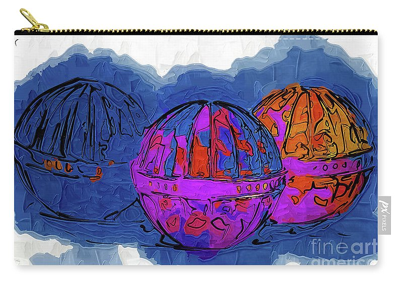 Balls Carry-all Pouch featuring the digital art Three Balls by Kirt Tisdale