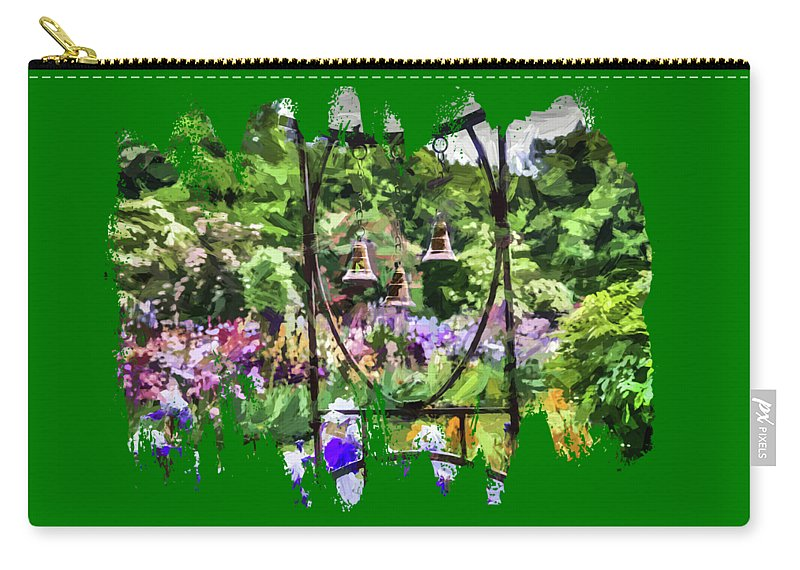 Digital Painting Carry-all Pouch featuring the photograph Three Bells by Thom Zehrfeld