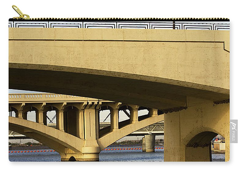 Bridge Carry-all Pouch featuring the photograph Three Bridges by Phyllis Denton