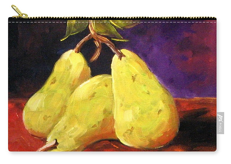 Art Carry-all Pouch featuring the painting Three Buddies by Richard T Pranke