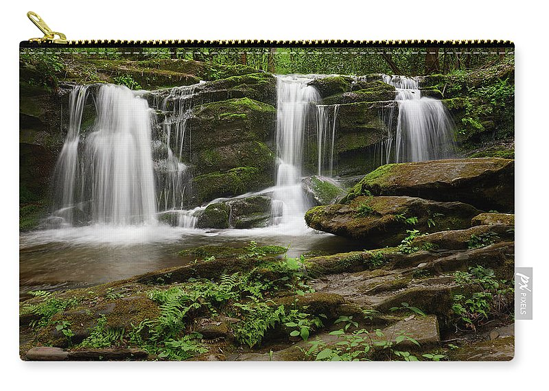 Artwork Carry-all Pouch featuring the photograph Three Falls Of Tremont by Jon Glaser