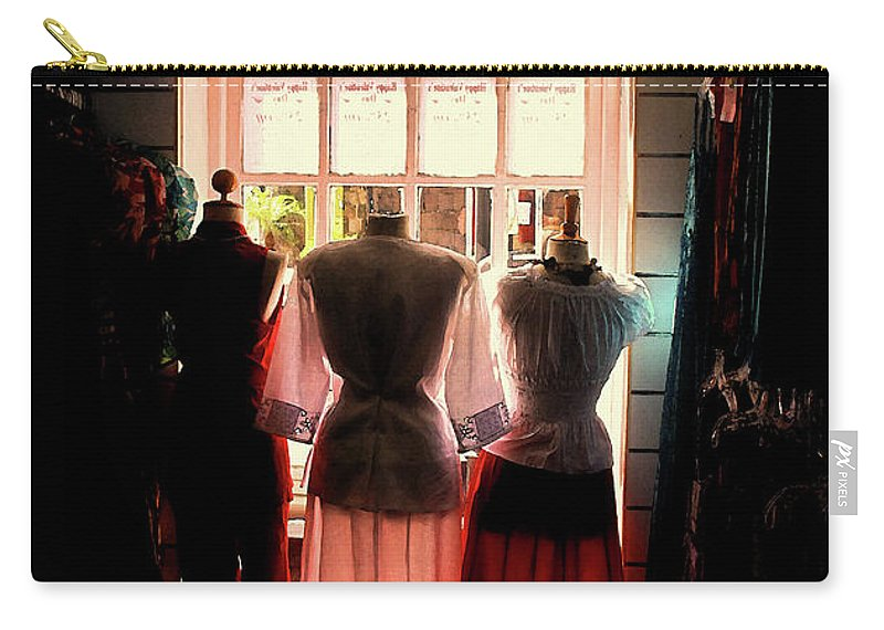 Dresses Carry-all Pouch featuring the photograph Three Lonely Women by Ian MacDonald
