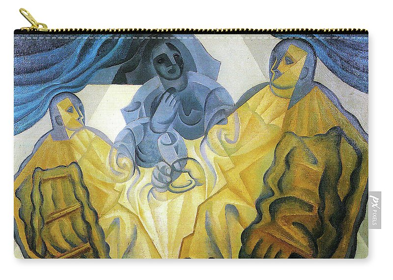 Three Carry-all Pouch featuring the painting Three Masks by Juan Gris