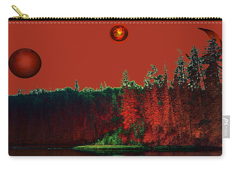 Red Planet Carry-all Pouch featuring the photograph Three Moons by Andrea Lawrence