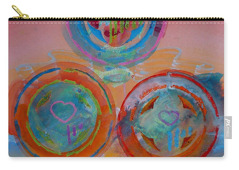 Logo Carry-all Pouch featuring the painting Three On Marine by Charles Stuart