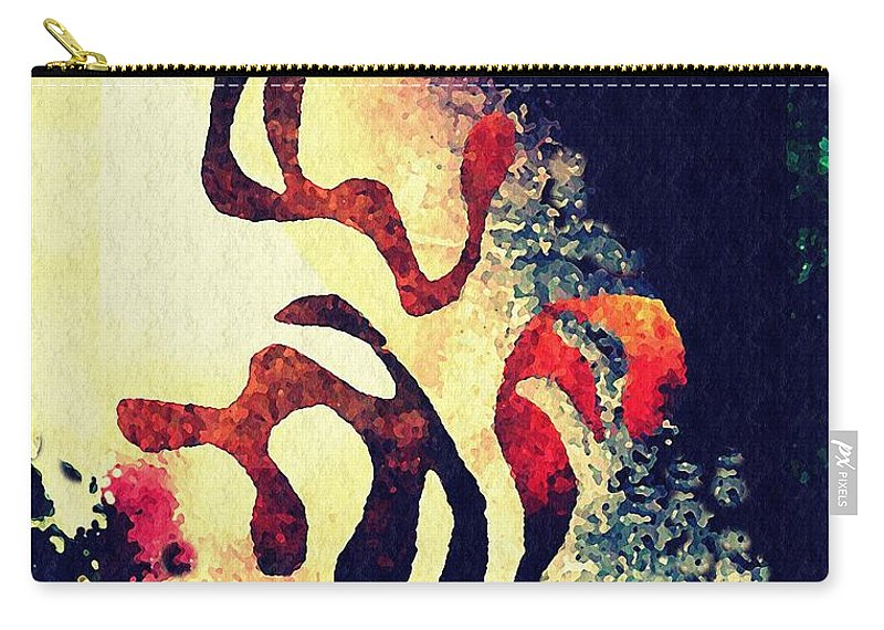 Curve Carry-all Pouch featuring the mixed media Three by Sarah Loft