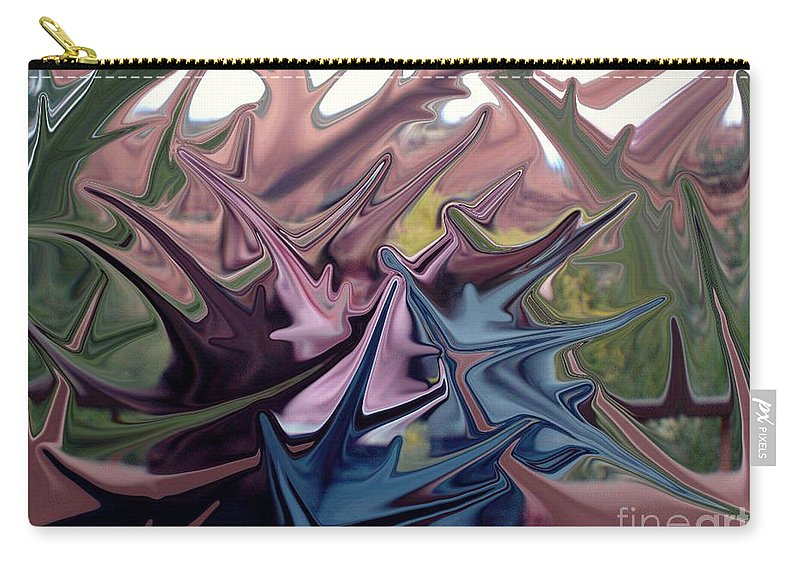 Digital Art Carry-all Pouch featuring the digital art Three Sisters In Sedona by Ron Bissett