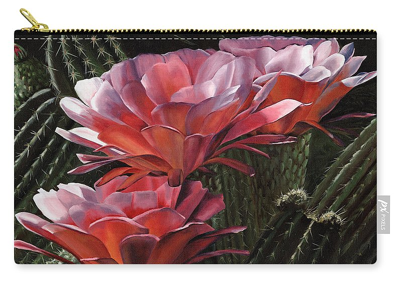 Art Carry-all Pouch featuring the painting Three Sisters by Mary Rogers