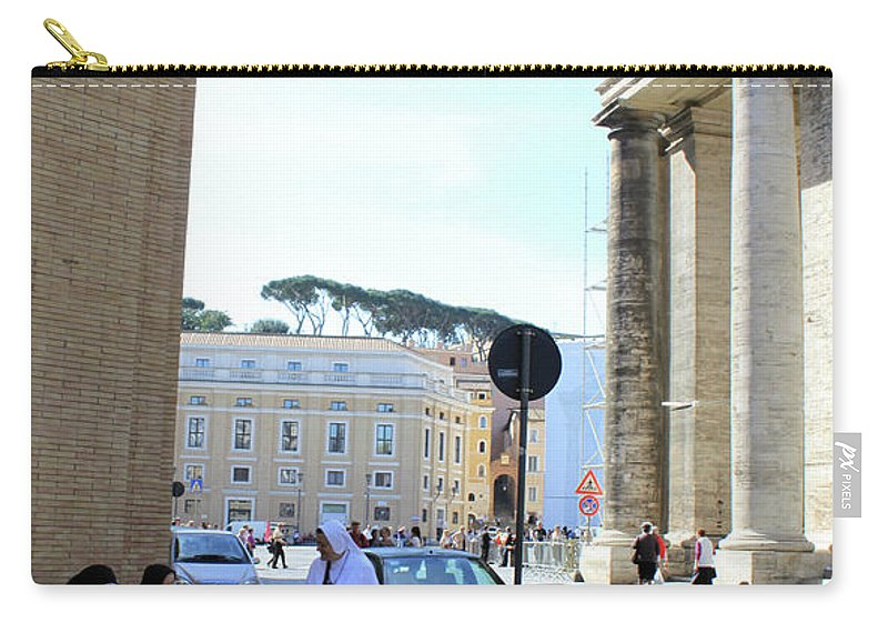 Rome Carry-all Pouch featuring the photograph Three Sisters by Munir Alawi